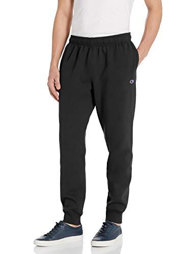 Champion Men's Powerblend Sweats Retro Jogger Pants, black, Medium