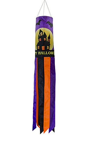 In the Breeze 5020 Fright Night Halloween Windsock-Outdoor Hanging Decoration, 40-Inch