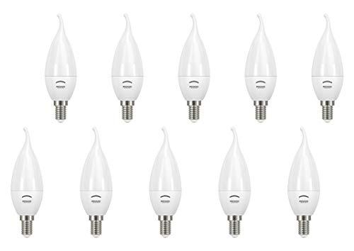 SET di 10 LAMPADINE LED COLPO DI VENTO CT37 PEGASO, 7W 525 Lumen, Attacco E14, LUCE CALDA 3000K°