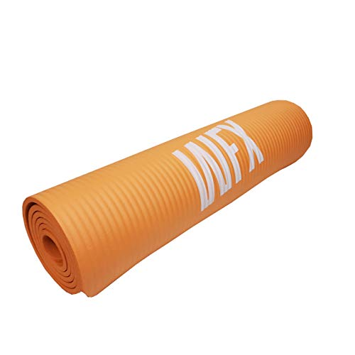 #DoYourFitness x World Fitness - Fitnessmatte Yogamatte »Yogini« - 183 x 61 x 1 cm - rutschfest & robust - Gymnastikmatte ideal für Yoga, Pilates, Workout, Outdoor, Gym & Home - Orange