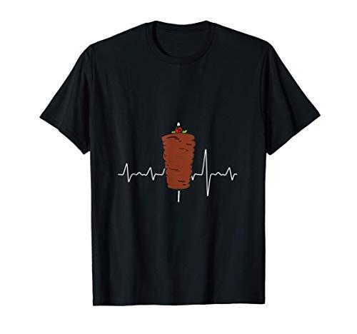 Kebab & Döner Spieß mit Herzschlag Puls Geschenk für Kebaber T-Shirt