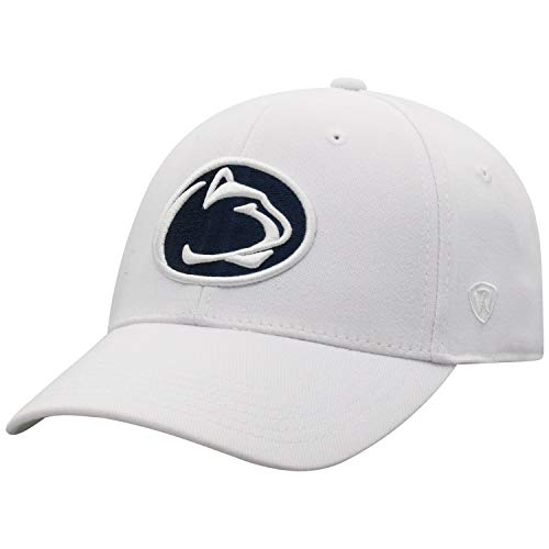 Top of the World NCAA Penn State Nittany Lions Premium Collection One fit Memory Fit Hat White Adjustable