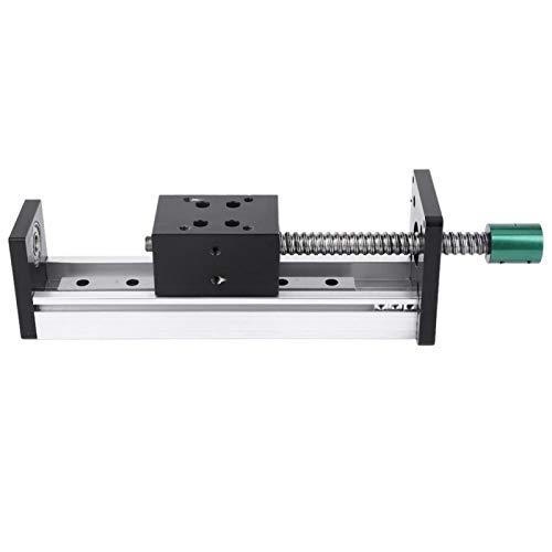 Jeanoko Kugelumlaufspindel Aluminiumlegierung Gleitbühne 400mm Hubführungsschiene für CNC-Maschine(1204 Screw, Effective Range 400mm)