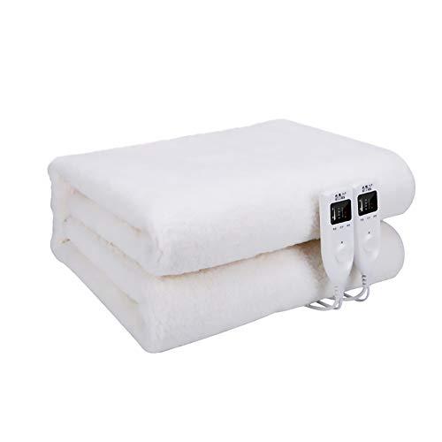 Confort lavable manta eléctrica doble control cama de matrimonio Premium Fleece completamente...