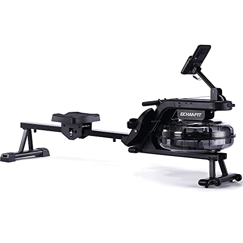 ECHANFIT Water Rowing Machine Rower with 6 Levels Resistance...
