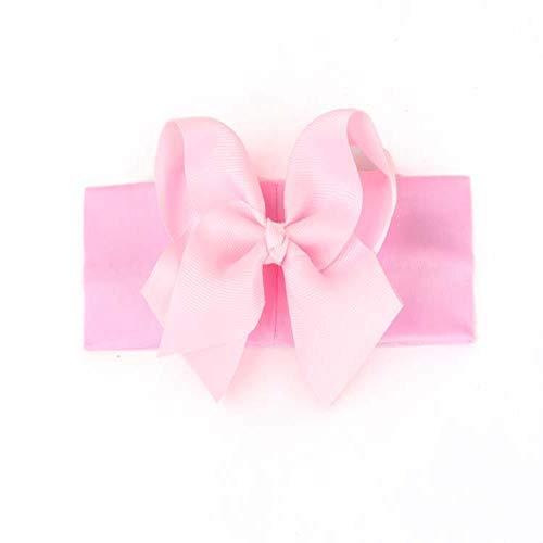 FimGGe New Bogenhaarzusätze, Kinderstirnbänder, Bandstirnbänder, Kinderbabystirnbänder, 5 Stück, rosa