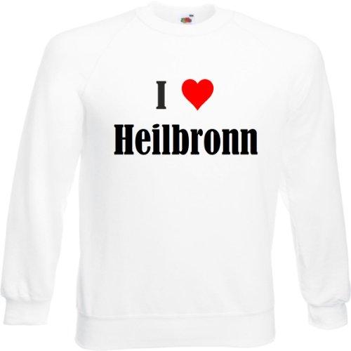 Reifen-Markt Sweatshirt I Love Heilbronn Größe 2XL Farbe Weiss Druck Schwarz