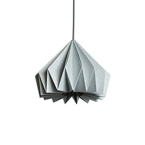 Brownfolds Pantalla de papel azul claro para lámpara Origami, paquete doble de vainilla Bliss