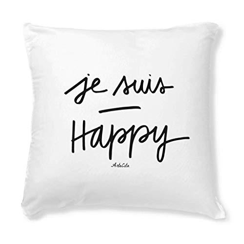 ArteCita - Federa per Cuscino Stampata, 40 x 40 cm, Motivo: Je Suis Happy