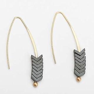 Earrings Vintage Natural Rock Stud Earrings Spear Arrow Long Hook Earrings Women Fashion Punk Style Jewelry(Green) Earring...