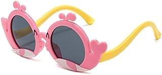 DKE&HXL - Gafas de sol para niños, polarizadas con diseño de delfín, protección UV, bonitas gafas de silicona