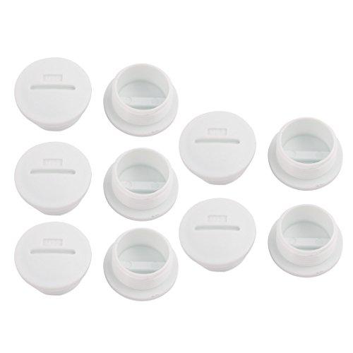 sourcingmap 10pcs Tapón de plástico Cabeza Redonda Piezas de colmatación de nylon...