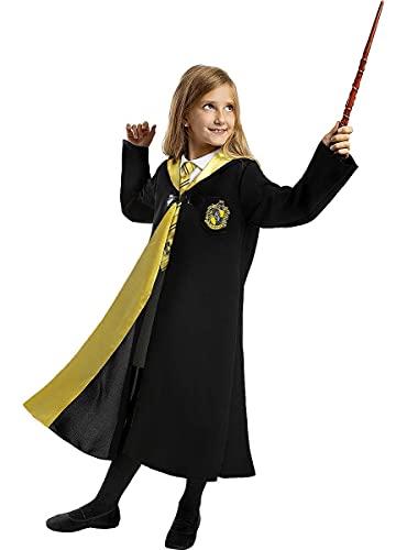 Funidelia | Disfraz Hufflepuff Harry Potter Oficial para niño y niña Talla 7-9 años ▶ Hogwarts, Magos, Películas & Series - Color: Negro - Licencia: 100% Oficial