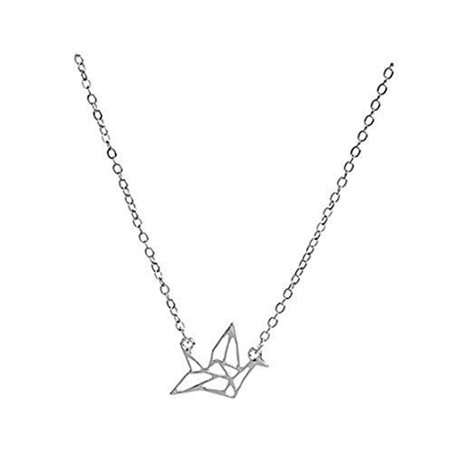 GYKMDF Collar de Cisne de Origami, Collar de Cisne de Papel, Collar para Mujeres, Ideas de Regalo, Regalos de Boda, Regalos de Dama de Honor
