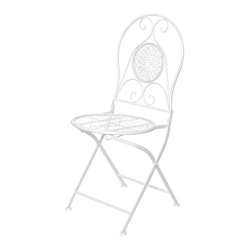 Sedia da esterno pieghevole 40x92x40 cm in metallo Bianco