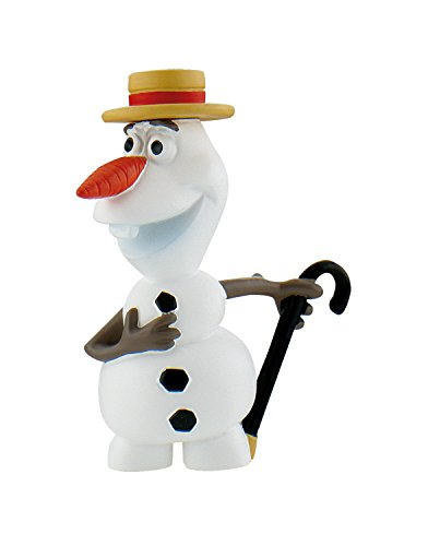 Bullyland 12969 - Spielfigur, Walt Disney Frozen Fever, Olaf mit Hut, ca. 6,5 cm, bunt