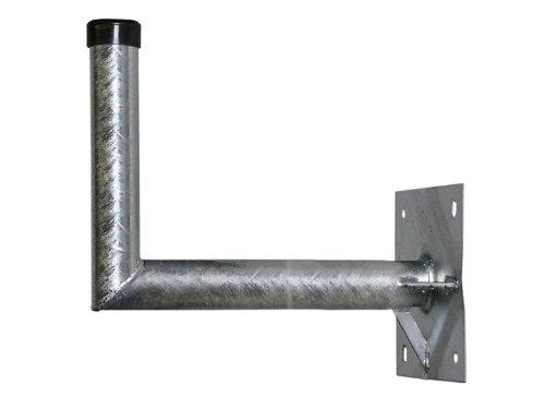 A.S.Sat 24069 wandhouder thermisch verzinkt staal 69 cm wandafstand 48 mm houderbuis met steun