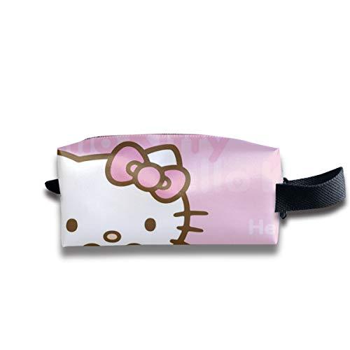 LIUYAN Neceser de viaje Hello Kitty con oso neceser de maquillaje para hombres, mujeres y adolescentes