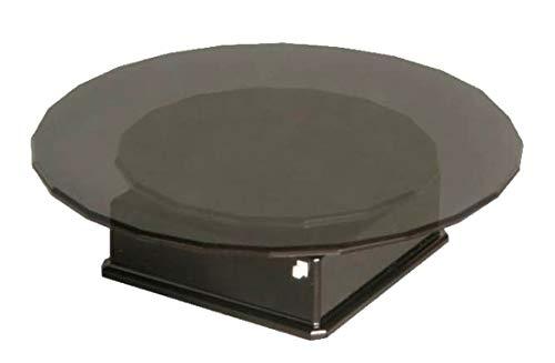 プラッツ バッテリータイプ ターンテーブル ブラック 単四電池使用 テーブル大/小選択式 (大) 直径120×33mm (小) 直径80×31mm 耐荷重150g PMM-6bk ディスプレイ用アクセサリ