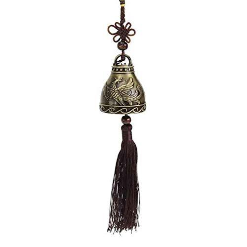 Carillon de Vent Chanceux Vintage de Haute qualité Feng Shui Bell Bénédiction Carillon de Vent Noeud Chinois pour la Bonne Chance Artisanat de Voiture de Fortune.