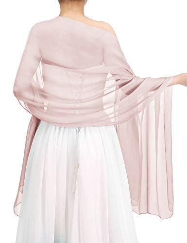 Bbonlinedress Schal Chiffon Stola Scarves in verschiedenen Farben Blush 180cmX72cm