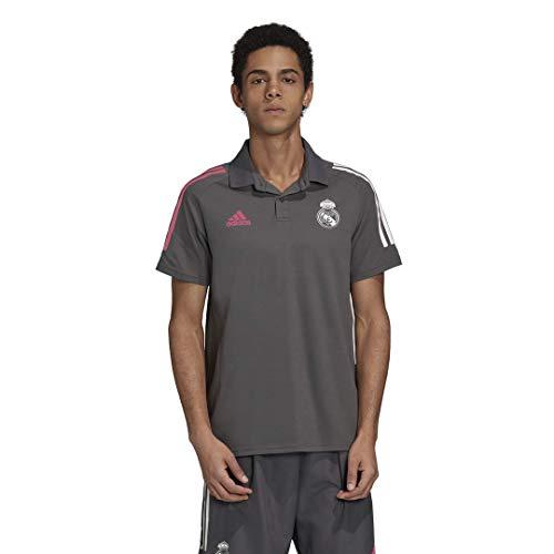 Adidas Real Madrid Temporada 2020/21 Polo Oficial, Unisex, Gris, L