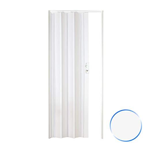 Forte Puerta Plegable de Interior de PVC Blanco 88,5x214 cm Mod.Luciana