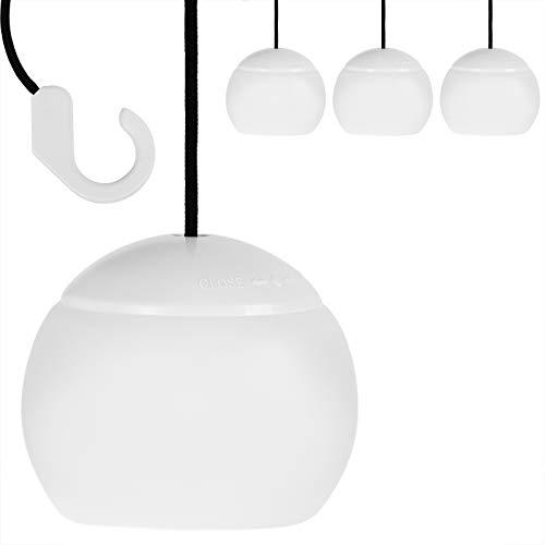 Monzana Campinglampe 4X LED batteriebetrieben Campingleuchte Lampe Leuchte Camping Pavillon Zelt Garten Sonnenschirm