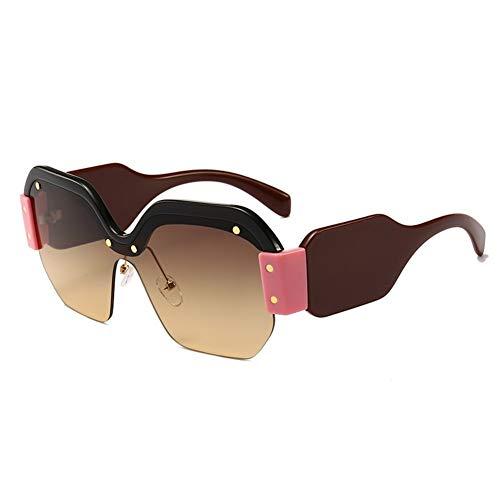 NOBRAND Marea Gafas De Sol Duradero Hip-Hop For Ojos, Vidrios Cuadrados Moda Gafas For Mujeres Y Hombres para Decorar tu Propio diseño (Color : E)