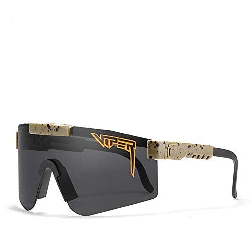 Gafas de sol negras, vasos de ciclismo al aire libre para mujeres y hombres, TR90 marco UV400 Gafas de sol polarizadas para pesca deporte...