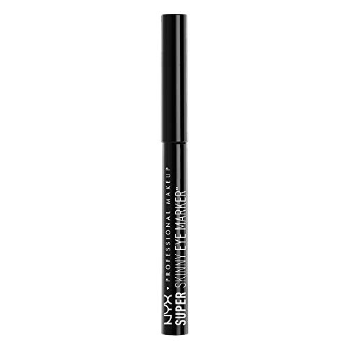 NYX Professional Makeup Eyeliner in Penna a Punta Extra Fine Super Skinny Eye Marker, Carbon Black