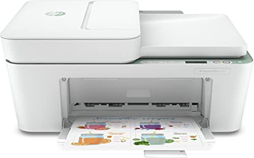 HP DeskJet Plus 4122 Stampante a Getto Termico d Inchiostro, 4800 x 1200 DPI, 8.5 ppm A4, Wi-Fi, Stampa a Colori, Bianco