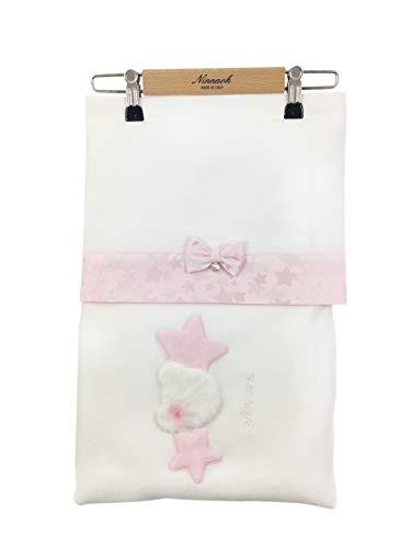 NINNAOH Sábanas para cochecito de bebé, de algodón, color blanco, para recién nacido, I20LE8