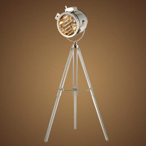 HYY-YY Europeo Suave de la Vendimia del Viento Industrial Estudio Reflector Etapa Creativa del Acero Inoxidable de la antigüedad Altura Ajustable del trípode de la lámpara