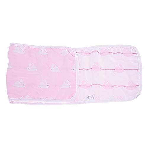 Cubierta del manillar del cochecito de bebé Manija universal Funda protectora de la manga a prueba de polvo Accesorios de la silla desmontable para cochecitos (Pink 20 * 70cm)