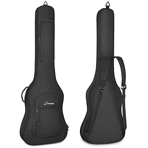 Donner Bolsa de guitarra eléctrica de 43 pulgadas, 12 mm/0.5 pulgadas de...