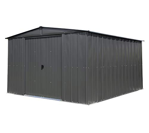 spacemaker Metal Garden Shed, garden shed, Garden Shed 10x12Charcoal//313X370cm/Metal/Metal Shed
