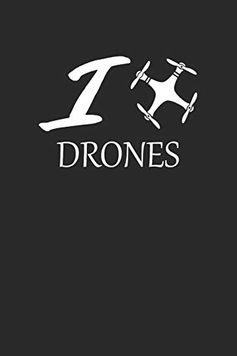 I DRONES: DROHNEN NOTIZBUCH Drones Notebook Drone Journal 6x9 squared kariert
