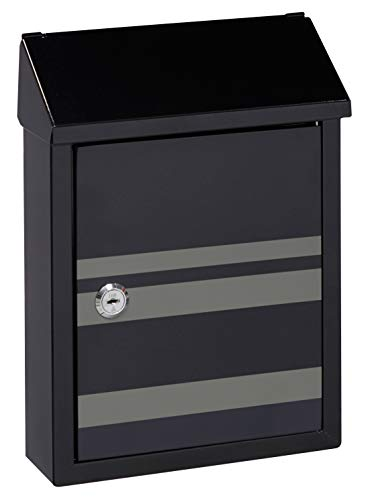 Arregui Smart Graphic E5724-STR Individual de Acero Decorativa Lines, buzón o recogecartas, Negro...