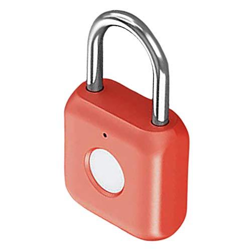 Amuzocity 1pc Key Without Fingerprint Padlock for Suitcase Luggage Bag Cabinet School G - red