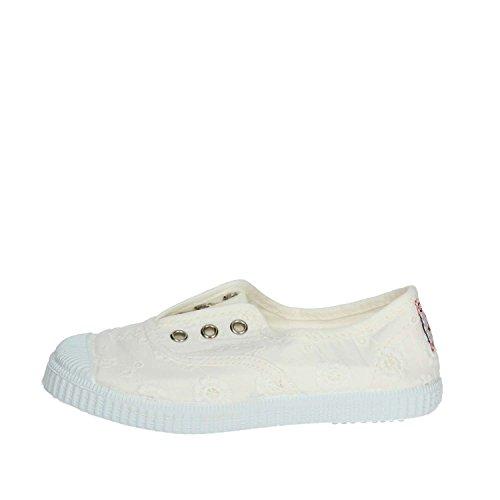 Cienta 70998 28/33 Bianco Scarpe Bambina Elastico Tessuto 28