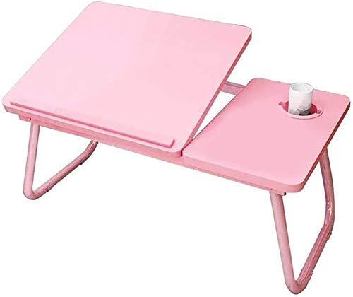 Mesa plegable para el hogar Lapdesk plegable, escritorio de la computadora Multifunción de la computadora portátil de la bandeja de la bandeja, usada para oficina, estudio, cama, sofá (color: beige) Z