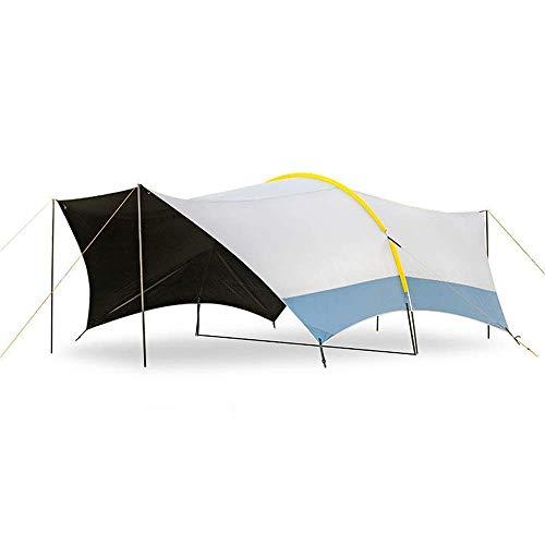 A Prueba de Viento Camping Senderismo Tienda Camping Tienda de campaña UP50 + 150D Oxford Impermeable Impermeable Empresa de una Sola Capa Toldo Familia Extremo Tabla Al Aire Libre Camping Senderismo