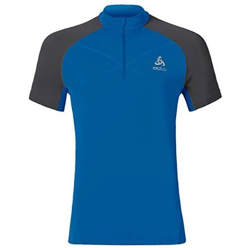 Odlo MC 1/2 Zip Virgo T-Shirt Manches Courtes Demi zippé Homme, Noir, FR : S (Taille Fabricant : S)