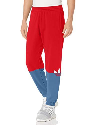 adidas Originals,mens,Slice Trefoil Sweatpants,Scarlet/Crew Blue,XX-Large