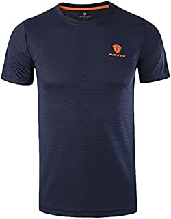 Running T-Shirts - Running T Shirt for Men Quick Drying FANNAI Breathable Sports Walking Fitness CrossFit Gym Exercise Fis...