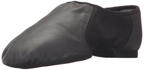 Bloch Dance Womens Neo Flex Leather and Neoprene Slip On Split Sole Jazz Shoe Black Size 55 UK