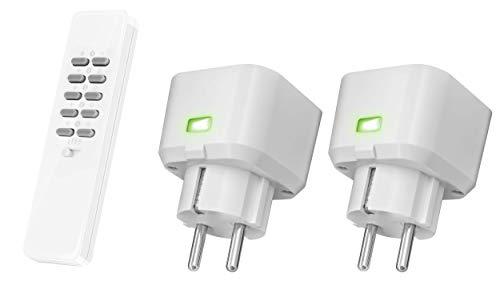 Trust KlikAanKlikUit Compacte StopcontactSchakelaar Set met Handzender ACC2-3500R - Start Line (433 Mhz) - NL Stekker