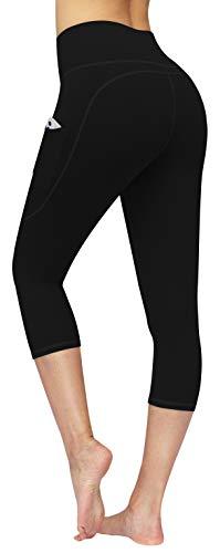 CUGOAO High Waist Yoga Pants for Women Yoga Capri Workout Pants with Pockets, Tummy Control Capri Leggings for Women