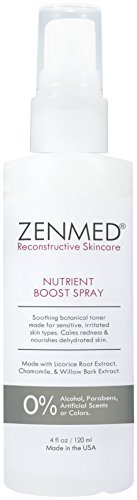 ZENMED Nutrient Boost Spray - 4 oz. Soothing Botanical Toner Made for Sensitive Irritated Skin Types Calms Redness & Nourishes Dehydrated Skin